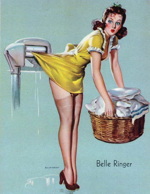 Vintage Laundry Pin Up